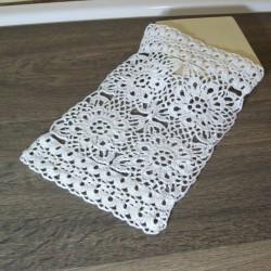 Décoration de table Mia crocheté main blanc corinnebernardesboutique.com