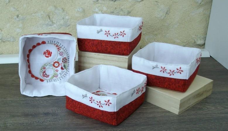 corbeille de table rouge individuelle corinnebernardesboutique.com